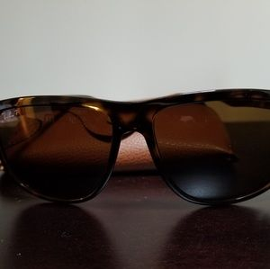 Ray Ban Brown Polarized Large Frame Sunglasses